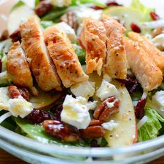 Maple Pecan Cran-Apple Salad with Lemon-Maple Vinaigrette