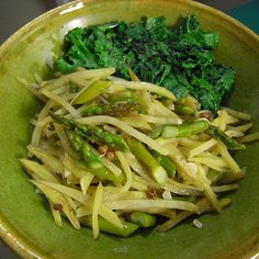 Ying's Szechuan Potato Chop with Asparagus