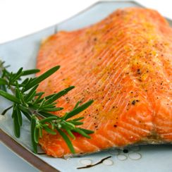 Cedar Plank Rosemary and Lemon Salmon