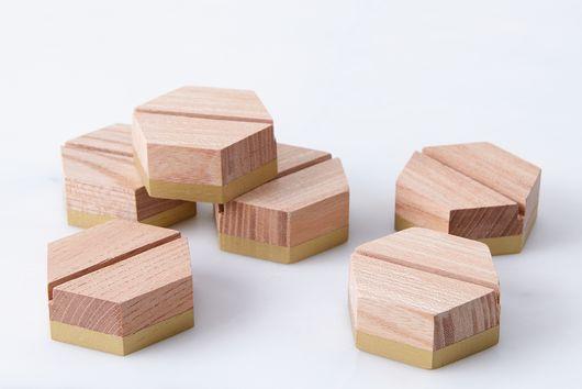 Geometric Placecard Holders (Set of 6)