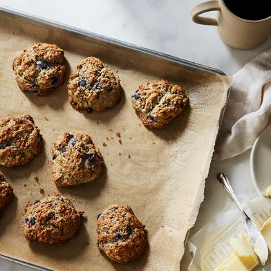 The Trick to Dazzlingly Blue Blueberry Biscuits