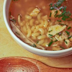 Roasted Garlic, Onion & Chicken Soup