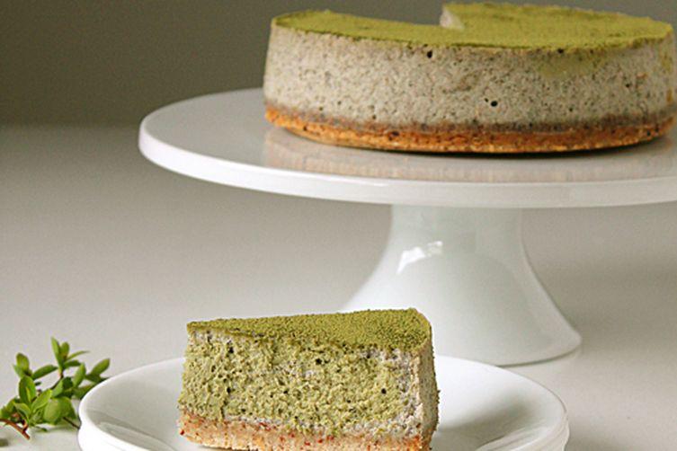 Matcha-Black Sesame Cheesecake