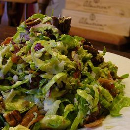 Brussels Sprout Salad with Maple Dressing