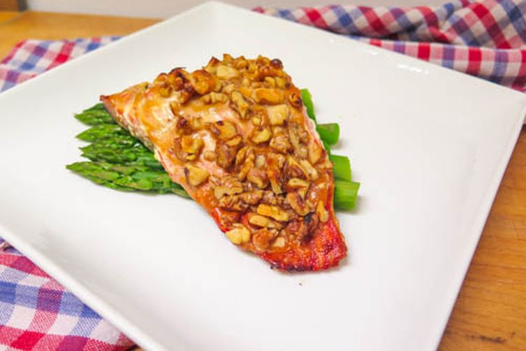Mustard Maple Walnut Salmon