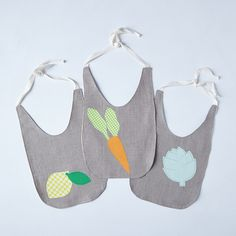 Seasonal Produce Baby Bibs