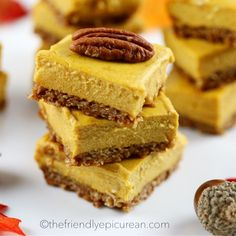 Mini Pumpkin Cheesecake Bars