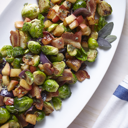 Brussels Sprouts with Honeycrisp Apples