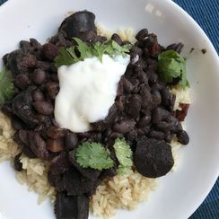 "Chorizo and Black Beans, ""Meanwhile"" Style"