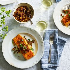 Baked Salmon With Walnuts & Barberries