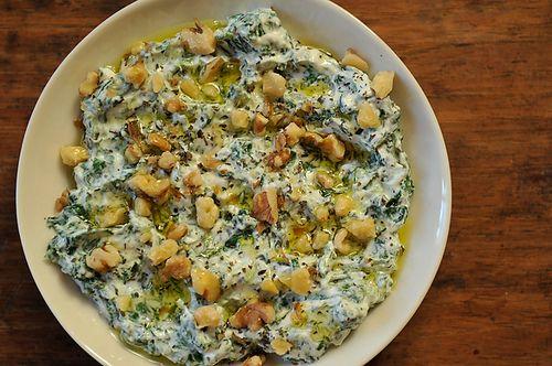 yoghurt & spinach