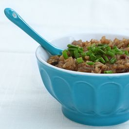 Bacon Brown Rice Risotto