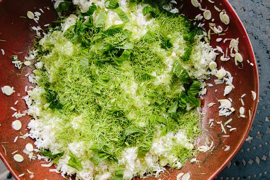 Wild Pilaf with Lemony Spruce Tips and Pine Nuts