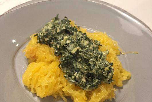 """Kale """"Carbonara"""""""