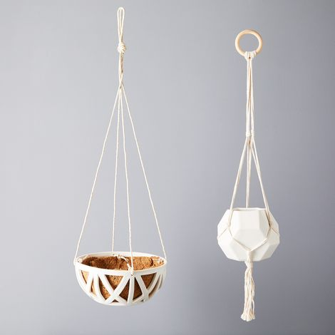 Convivial Woven Hanging Planters