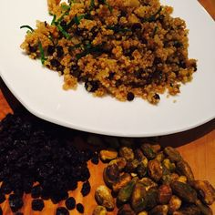 Quinoa Salad with Currants, Pistachios, Red Onion and Mint
