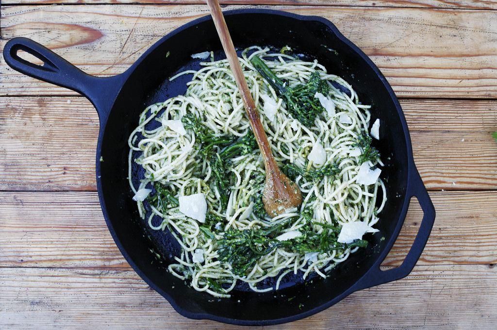 Pasta with Broccolini Pesto and Creme Fraiche Recipe