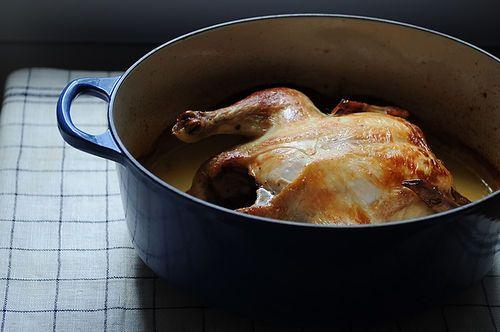 coffee brined roast chicken