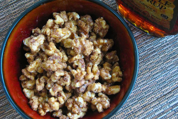 Maple Sugared Walnuts (or Pecans)