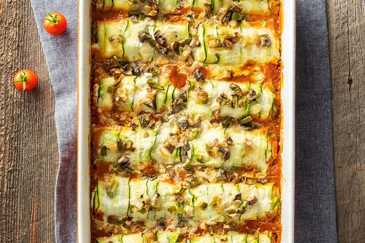 Low Carb Zucchini and Ricotta Cannelloni