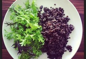 Lentils and Greens, Dressed in the Office
