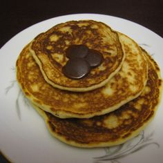 The Fluffiest Chocolate Chip Banana Pancakes