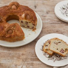Casatiello Napoletano (Stuffed Easter Bread)