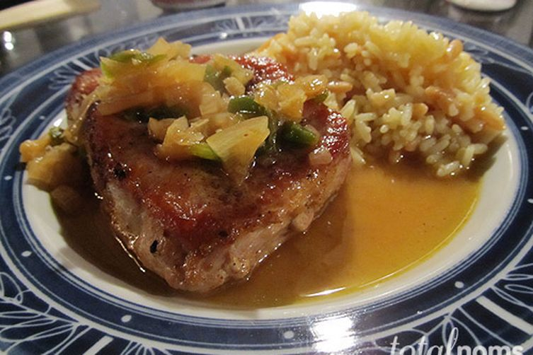 Beer Braised Pork Chops with a Kick