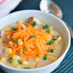 Creamy Nacho Potato Soup