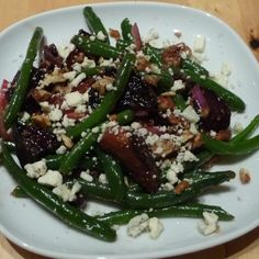 Roasted Beet, Green Beans and Olive Salad