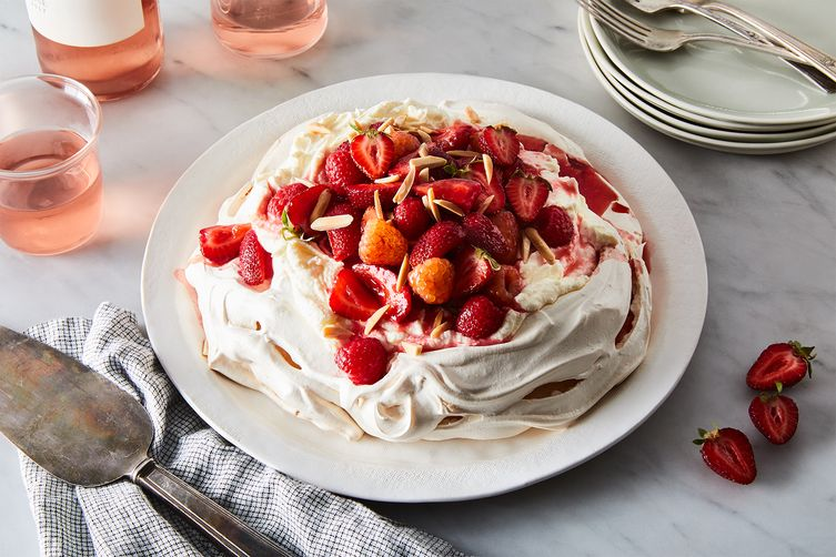 Berries and Cream Pavlova