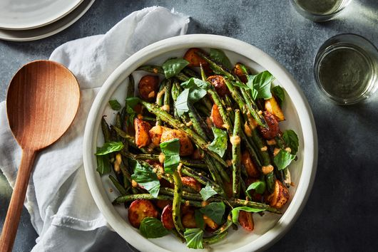 Grilled Potato and Green Bean Salad