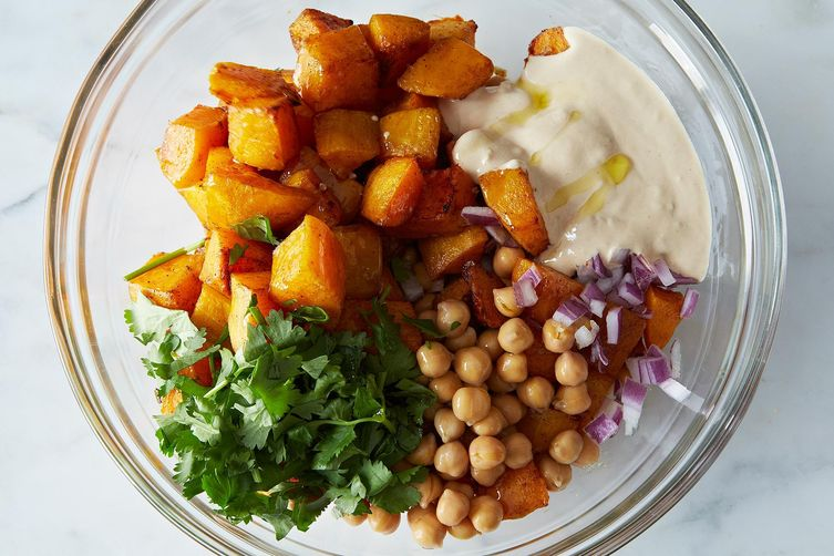 Moro's Warm Squash & Chickpea Salad with Tahini Recipe on ...