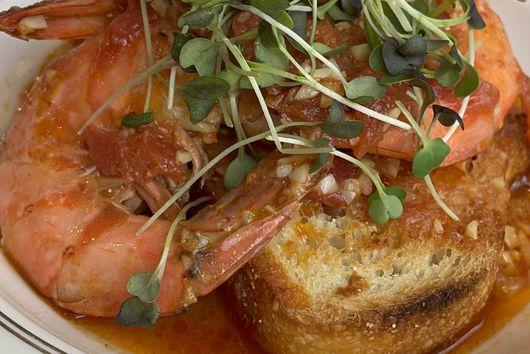 Spicy Garlic Shrimp & Toast