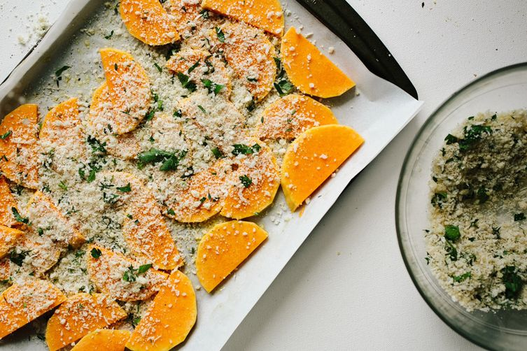 Parmesan-Crusted Butternut Squash