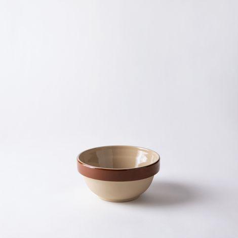 Vintage French Stoneware Round Bowl