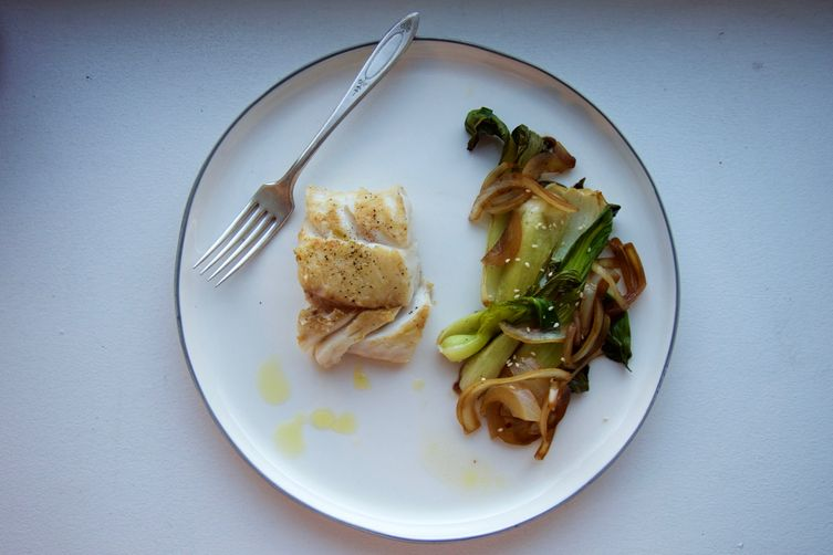 Easy Cod with Asian flair