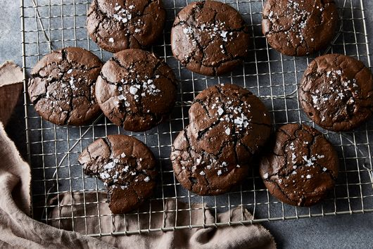 Salty Black Licorice Brownie Cookies