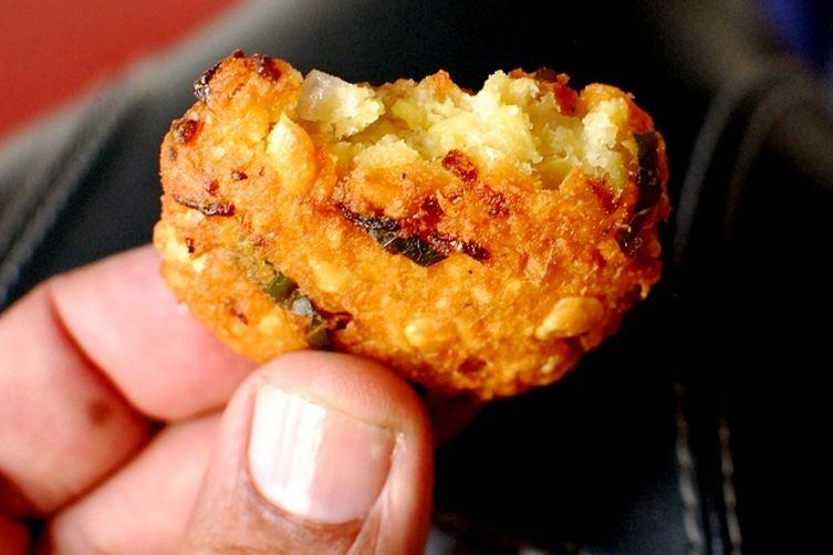 parippu vada or dal vada a common street food of Kerala