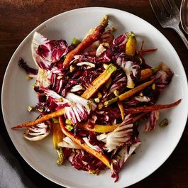 Dinner Tonight: Carrot and Radicchio Salad with Fig Balsamic Vinaigrette