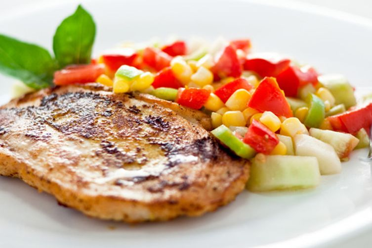 Grilled Chipotle Pork Tenderloin with Fresh Corn Salsa