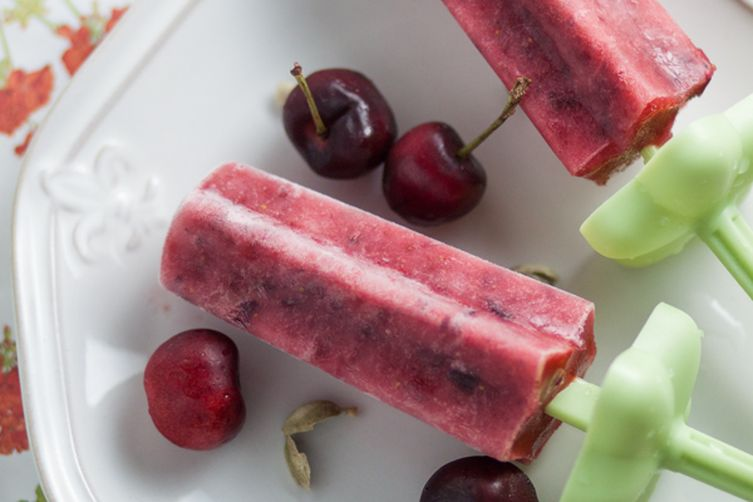 Cherry Berry Cardamom Ice Pops