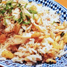 Spiced Lebanese Pine Nuts and Raisins Rice with Turkey