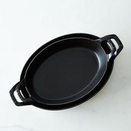 Staub Large Cast Iron Oval Roasting Dishes
