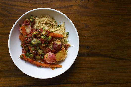 Spring Vegetable Couscous with Esplette Pepper