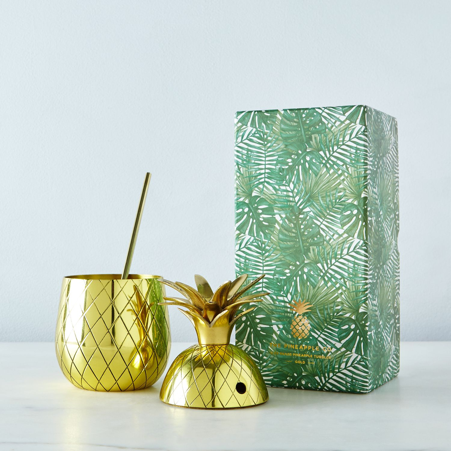 Large Brass Pineapple Tumbler With Straw On Food52