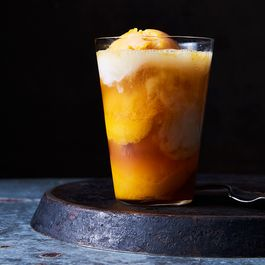 Mango Sorbetto Colada Float by Nancy