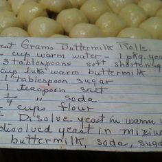 Great Gram's Buttermilk Rolls