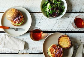 Dinner Tonight: Salmon Burger with Avocado Aioli