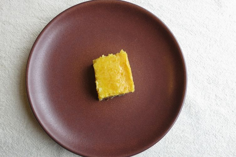 Gluten & Dairy Free Meyer Lemon Bars with Gingersnap Crust